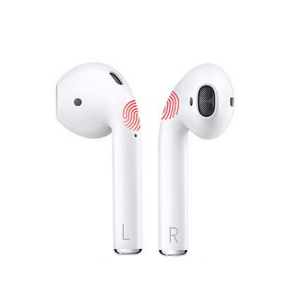 Auriculares touch control blanco